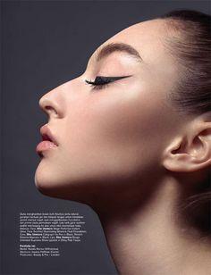 """New Look"" Natalia Munoz for Bazaar Indonesia September 2015 issue by Iakovos Kalaitzakis; Liquid Liner, Beauty Editorial, Harpers Bazaar, New Look, Eyeliner, September, Make Up, Stylists, Face"