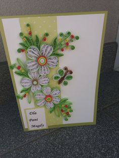 Paper Quilling Designs, Quilling Cards, Card Making, Greeting Cards, How To Make, Accent Pillows, Cards, Needlepoint, Paper