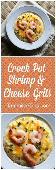 Super easy Crock Pot Shrimp and Cheese Grits Recipe! This southern slow cooker family meal is perfect for dinner or breakfast! via @tammileetips