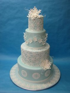Winter wedding cake By RenP on CakeCentral.com