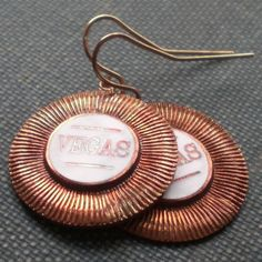 Vintage Vegas Chips Earrings by contrary