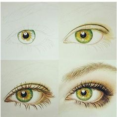 Pasos para pintar un ojo.