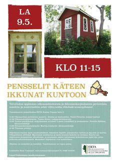 Pensselit käteen ja ikkunat kuntoon! Korjausrakentamispäivä EKTAssa 9.5. Tervetuloa! #EKTAMuseumcenter #Raasepori #Tammisaari #Restaurointi #vanhatikkunat #talkot #punamultaväri #Museo