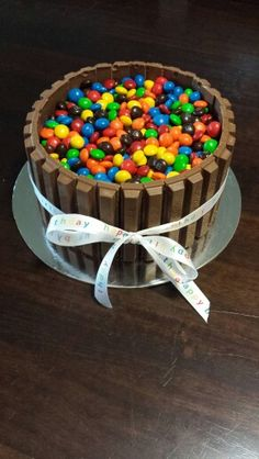 Kit Kat and M&M cake (chocolate mud)