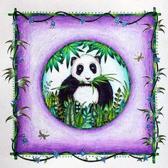 Panda! #johannabasford #magicaljungle #prismacolor #slicci #metallicgelpen…
