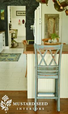 Painted bar stool tutorial part two - distressing & waxing.