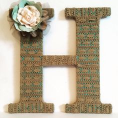 Wooden Letters, Decorative Letter, Home Decor, Nursery Decor, lace decor, Gift for Her, Tightly Wound Designs by TightlyWoundDesigns on Etsy https://www.etsy.com/listing/261272043/wooden-letters-decorative-letter-home