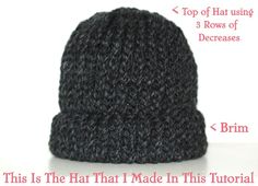 Knitting Patterns Beanie How To Loom Knit A Chunky Beanie Hat Pt. Loom Knitting Stitches, Knifty Knitter, Loom Knitting Projects, Chunky Knitting Patterns, Loom Patterns, Crochet Patterns, Loom Hats, Loom Knit Hat, Knitted Hats