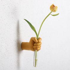 Handie Flower Vase – fourlinedesign Flower Vases, Flowers, Plants, Wall Decor, Herbs, Wall Hanging Decor, Bud Vases, Florals, Vase