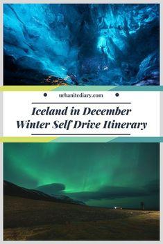 Iceland in December Winter Self Drive Itinerary for first timer. #Iceland #Winter #IcelandWinter #itinerary