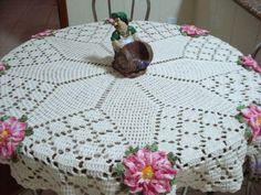 Crochet Patrones Carpetas Redondas Ideas For 2019 Crochet Table Runner, Crochet Tablecloth, Crochet Doilies, Crochet Flower Scarf, Crochet Blanket Edging, Barbie Knitting Patterns, Crochet Rug Patterns, Crochet Round, Easy Crochet
