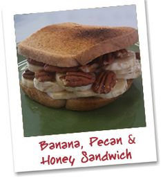 Looking for a #healthy #sandwich to satisfy your #sweettooth? Try this Banana, Pecan & Honey Sandwich on #Klosterman #WheatBread!