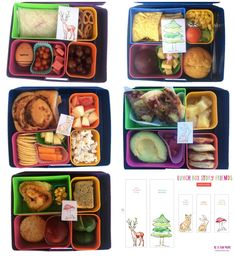 Lunch Box Notes - Story Friends - one for each day of the school week in a woodlands series