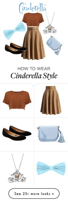 """Cinderella"" by katieholland-2 on Polyvore featuring Chicwish, PINK BOW, Accessorize, Disney and Kate Spade"