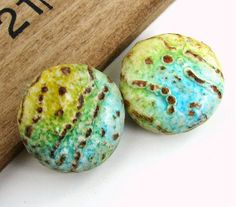 Rustic Handmade Polymer Clay Lentil Beads by BeadsByEarthTones, $4.99