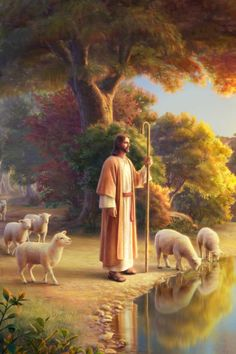 Images Du Christ, Pictures Of Jesus Christ, Religious Pictures, Religious Art, Jesus Shepherd, Christ The Good Shepherd, Jesus Artwork, Jesus Christ Painting, Mary And Jesus