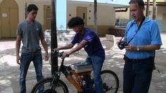 Probando la bicicleta motorizada