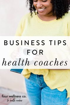 Business Tips For Health Coaches | Health Coaching Business Tips - Are you a health coach looking to start up your own online wellness business? Click to learn some of my business mistakes and lessons learned, for you to avoid in order to save yourself time and money! | Wellness Business Tips | Health Coach | Online Business | Successful Business | Four Wellness Co. #healthcoach #wellnessbusiness #businesstips #entrepreneur #successful Wellness Company, Wellness Tips, Successful Business, Online Business, Becoming A Life Coach, Dream Career, Healthy Lifestyle Tips, Online Coaching, Diet And Nutrition