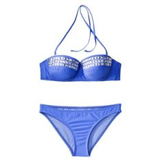 My new swimsuit!  Xhilaration Juniors 2-Piece Bikini Swimsuit with Silver Studs -Blue