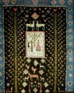 Pääkuva Kansanomainen morsiusryijy Rya Rug, Wool Rug, Traditional Design, Abstract Pattern, Finland, Advent Calendar, Carpet, Knitting, Rugs
