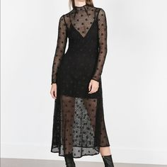 Zara black dress Brand new with tag! 🚫🚫🚫NO TRADE🚫🚫🚫 Zara Dresses