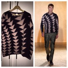 Paul Smith Inverted Triangle Sweater. Fall Winter 2013 Collection.