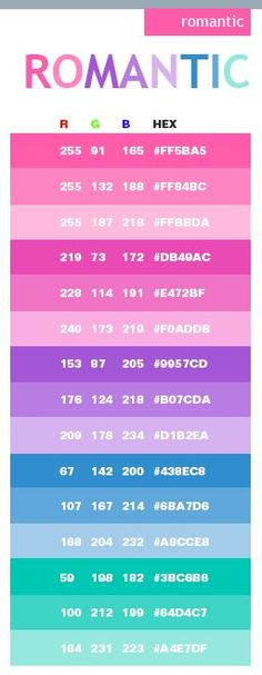 Pink Color Schemes Combinations Palettes For Print