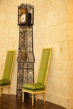 Antique globe fixture illuminates this hallway