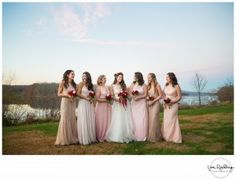 Mismatched bridesmai