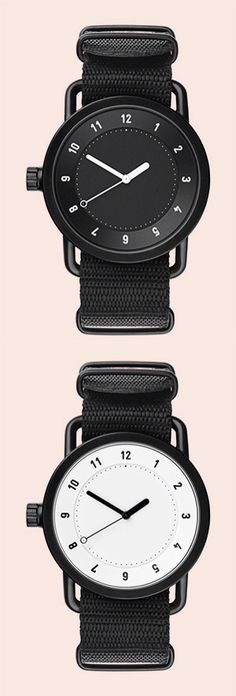 No.1 is the first product by TID Watches (tid is Swedish for time), a new brand by Stockholm-based studio, Form Us With Love. Designed to be both timeless and durable, the No.1 is black ion-plated milled stainless steel and available in either black or white