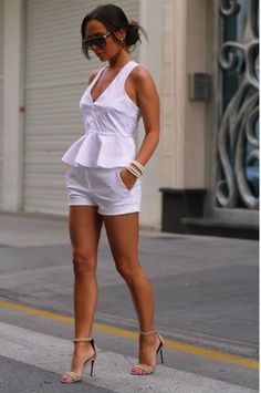 All White & Pearls Johannaeo- On my honeymoon out and about beside Mr, Right... sigh. SFS!