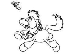 Dibujo para colorear de caballos (nº 5)