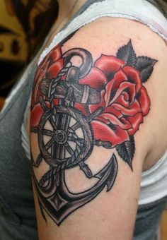 Brittany Elliott rose and anchor tattoo  Tattoos | bzelliott.com