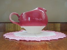 Vintage Homer Laughlin Airbrushed Creamer Pitcher by CleaninHouse, $15.50