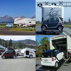 It's amazing how creative you can get with an RV & a Smart Car don't you think? #RVing #RVillage