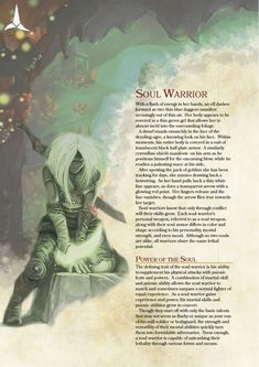 DnD 5e Homebrew — Soul Warrior Class