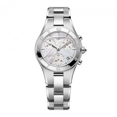 Ladies Baume et Mercier Linea automatic chronograph with interchangeable bracelet and strap Model number: M0A10012 #orjewellers #baumeetmercier #chronograph #automatic #ladiesfashion
