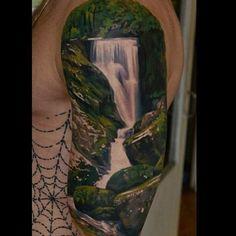 Waterfall tattoo