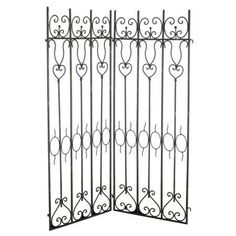 A Home French Chic Garden 38 inch x 45 inch Metal Fence, Black