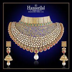 Hazoorilal Jewellers - Bridal Kundan set