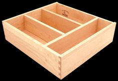 Divided drawers. Dividers can be custom spaced. Fixed, removable or adjustable. Send your drawing and we will build it!