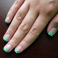 Try this funky french tip - so cute and easy to do!