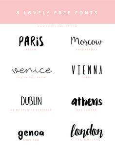 #Fonts inspiration  Curti BASTANTE as fontes de Paris, Venice, Vienna e Dublin. (Talvez London)