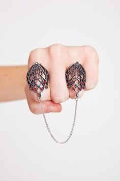 Crown Jewels Chain Ring. Cute but an accident waiting to happen.