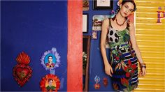 Desigual spring-summer 2015 dress, with Mexican flavour.