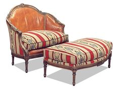 Shop for Old Hickory Tannery Nightengale Settee, M111, and other Living Room Settees at Englishman's Interiors in Dallas, TX. Downfil Cushions. Loose Seat. Tight Back.