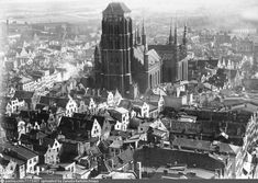 Danzig. Marienkirche Danzig, Poland, New York Skyline, 1920s, Travel, Viajes, Destinations, Traveling, Trips