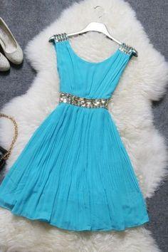 Fashion sexy beaded chiffon dress MLc