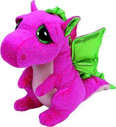 From 2.00 Ty Beanie Boo Plush - Darla The Dragon 15cm