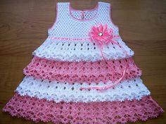 21a405f06 Las 302 mejores imágenes de vestidos bebé crochet en 2019